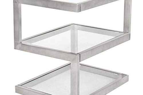 WOYBR Stainless Steel, Glass 5S End Table