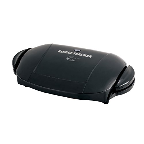 George Foreman 5-Serving Removable Plate Electric Indoor Grill and Panini Press, Black, GRP0004B George Foreman Barbecue