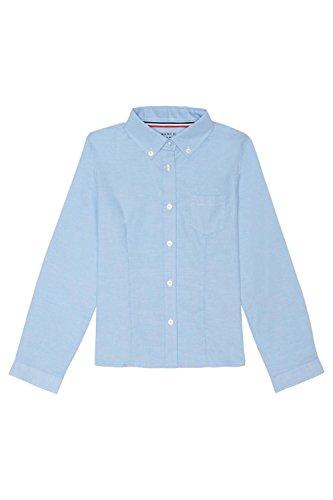 light blue button blouse - 2