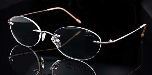 Labu Store OVA Rimless Eyeglasses Frame Women Clear Myopia Glasses Pink Eyewear Frames Woman oculos de grau Feminino