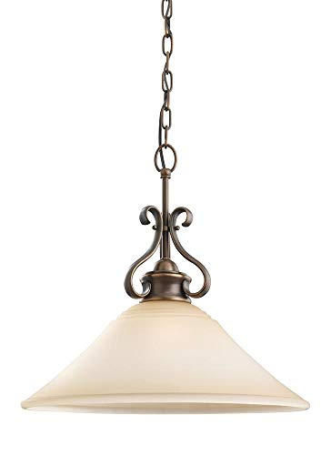 Sea Gull Lighting 65380EN3-829 Parkview Pendant, 1-Light LED 9.5 Watts, Russet Bronze