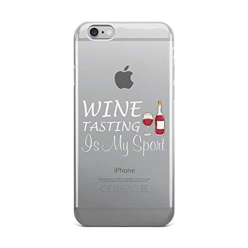 iPhone 6 Plus/6s Plus Pure Clear Case Cases Cover Wine Tasting is My Sports Alcohol Lover