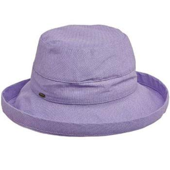 - SCALA Women's Medium Brim Cotton Hat, Lavender, One Size