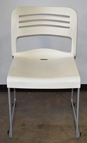 ERGO Contract Layover, Contract Quality, Stack Chair with Sled Base, White, 18 Seat Height, Sold as Set of 4 (New in The Box) Durable and Stylish. Can Stack up to 24 high