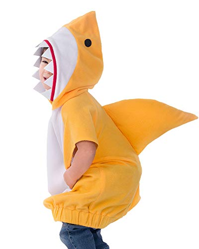 Coskidz Childrens' Shark Costume Halloween Multicolor Hoodie (L, Yellow) -
