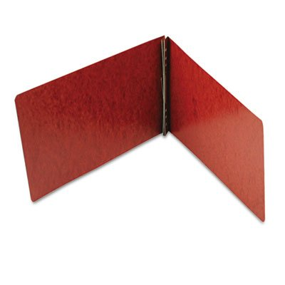 (Smead Products - Smead - End Opening PressGuard Report Cover, Prong Fastener, Legal, Red - Sold As 1 Each - Ideal for monthly reports and presentations. - Two-piece style cover compresses material tightly to reduce bulk. - PressGuard stock with an embossed leather-grain finish is coated to resist moisture and stains. - Durable matching Tyvek hinge. - Prong fastener holds securely without damaging the document or binder hinge. )