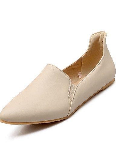 Zapatos casual Uk6 Taln Eu39 atltico Punta De Toe Pdx Negro Y Plano Beige de Oficina beige Charol Carrera Flats Cn39 Mujer amarillo us8 1OnqOx6p5