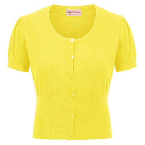 Plus Size Yellow Lightweight Cardigans for Women Dress X-Large BP707-4