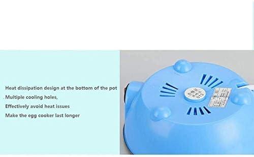 Mini Double Layer Eierkocher, Multifunktionsedelstahl Ei-Dampfer, Haushaltsklein Frühstück Maschine, Blau, 350W 1125 Judith