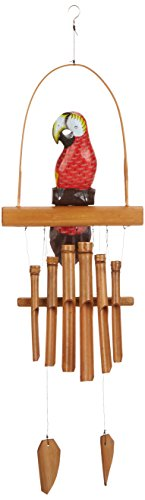 (Woodstock Parrot Bamboo Chime- Asli Arts Collection )