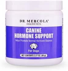 Dr. Mercola, Canine Hormone Support, for Dogs, 3.17 oz. (90 g), Helps Support Natural Hormone Balance, Non GMO, Soy-Free, Gluten Free
