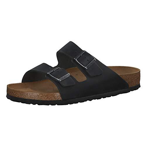 Unisex Birkenstock Arizona SFB Black Birko-Flor Open Toe Sandals