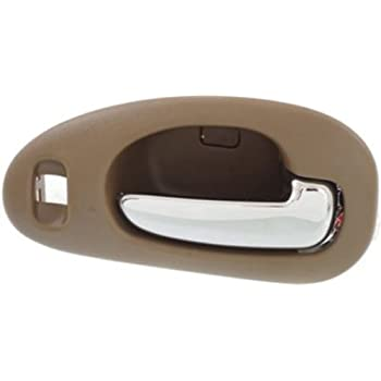 Amazon.com: CPP Front Driver Side Beige w/ Chrome Interior Door ...