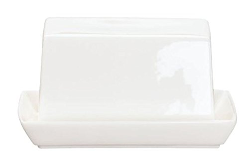 ASA 1983013 table butter dish, ceramic, glossy white 11 x 8.80 × 10 cm