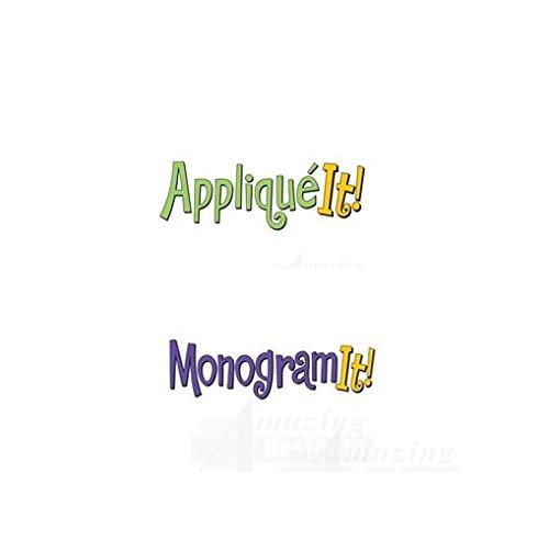 - Amazing Designs APPLIQUE IT! & MONOGRAM IT! Embroidery Machine Software Combo & Stabilizer Bundle