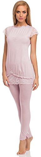 Merry Style Pijama para mujer Collyn Rosa