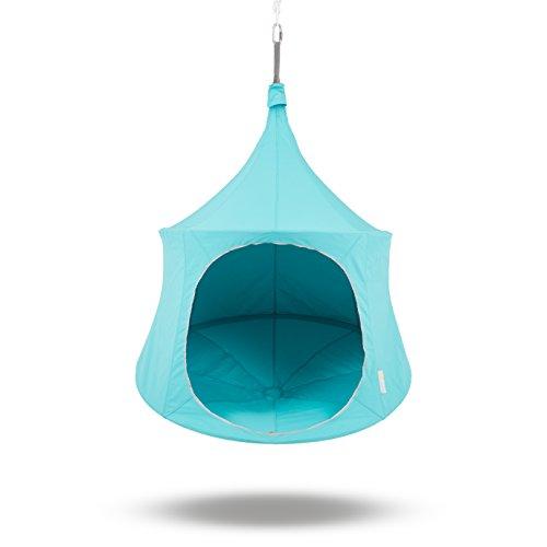 TreePod Lounger 5-Foot Hanging Backyard Tree House, Aquamarine by TreePod