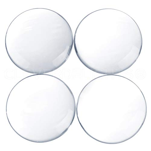 (CleverDelights 5 40mm Round Glass Cabochons - 1 9/16