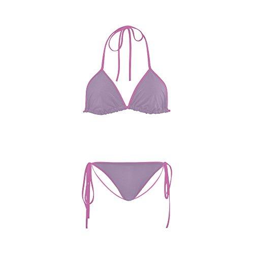 Women Bathing Swimsuit Regal Orchid Color Accent Custom Bikini Set Beachwear ()