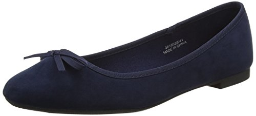 New Look Wide Foot Laire, Zapatillas de Ballet Mujer Azul (Marino)