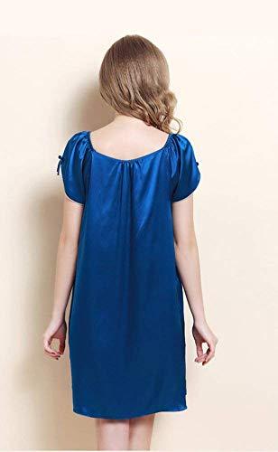 Shawl Night Moda Negligee Silk Pure Warm Angel Pijama Ladies De Royal Forever Ropa Blue Nightgown Dormir 0qFI8ww