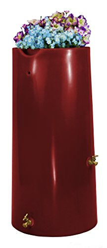 Good Ideas IMP-R50-MAR Impressions Reflections Rain Saver Rain Barrel, 50 gallon, Marsala