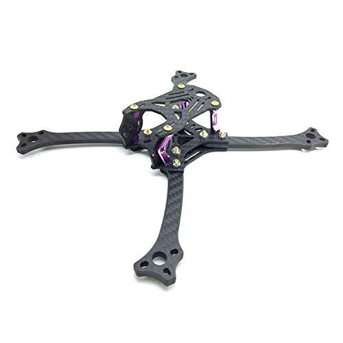3B-R 211 Forerake Arm 215mm Wheelbase FPV Racing RC Drone Frame Kit 5mm Arm Carbon Fiber 72.3g - RC Toys & Hobbies Multi Rotor Parts - 4 X CNC-machined metal pillar, 4 X Arm, 2 X Side plate ()
