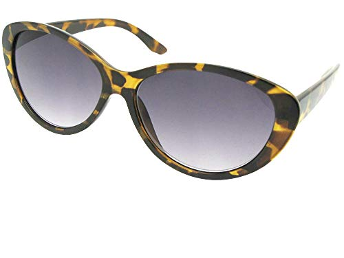 Fashion Cat Eye Full Reading Lens Sunglasses For Women R99 (Lite Tortoise Gray Lenses, 1.75) ()