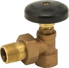 NATIONAL BRAND ALTERNATIVE GIDDS-262092 Bronze Hot Water Angle Radiator Valve, 3/4''