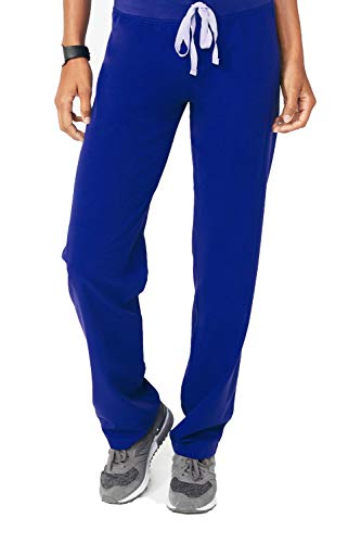 (FIGS Livingston Basic Scrub Pants for Women Medical Scrub Pants, Deep Royal Blue S)