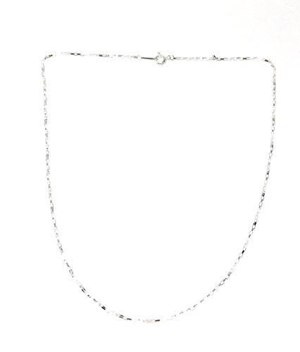 925 Silver Square Chain Necklace (925 Plata Cuadrado Cadena Collar)