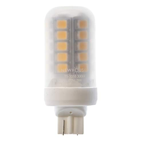 - Newhouse Lighting T5 LED Bulb Halogen Replacement Lights, 3W (18W Equivalent), Wedge Base, 280 lm, 12V, 3000K, Non-Dimmable