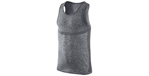 Nike Men's Dri-Fit Knit Sleeveless Tank (XX-Large) (Grey)