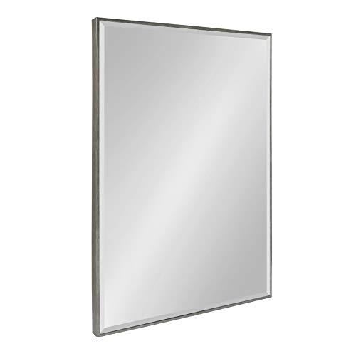 Kate and Laurel Rhodes Framed Wall Mirror 24.75x36.75 Dark Silver