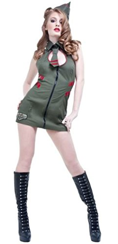 Lip Service Women's 3pcs Sexy Army Military Soldier Uniform Costume (XL) (Sexy Soldier Costumes)