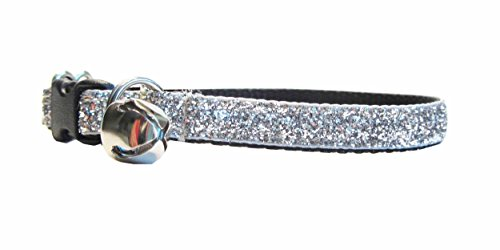 Kitty Kaboodle Adjustable Sparkle Breakaway Cat Collar with Bell (7-11
