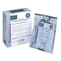 Dermagauze Impregnated Hydrogel Wound Dressing, Latex Free, Size: 4 X 4 Inches - 15 / Box