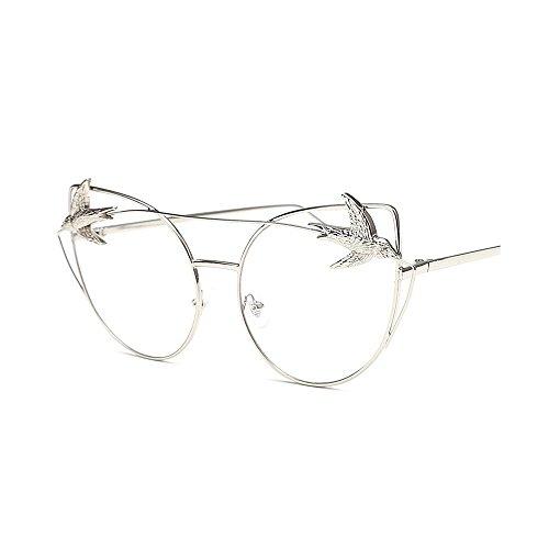 montura Gafas aves montura Hombres con grandes mujeres Gafas de de Retro retro con de Gafas metálica de de sol clásicas gafas para unisex gato Decoración d Blanco de Ojos sol sol Gafas personalidad sol la de HqTMwKq7g