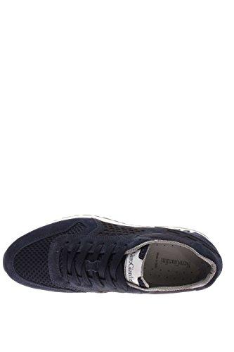 Nero Giardini – Zapatillas tipo Sneaker de hombre, P604071U-207, de ante y tela Azul