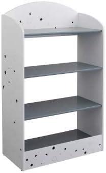"Target Marketing Systems Talori Modern Contemporary 4 Shelves Home Office Bookshelf, 23.75"", Gray/White"