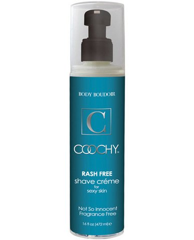 New coochy body rashfree shave creme - 16 oz fragrance free (Package Of 8) by Classic Erotica