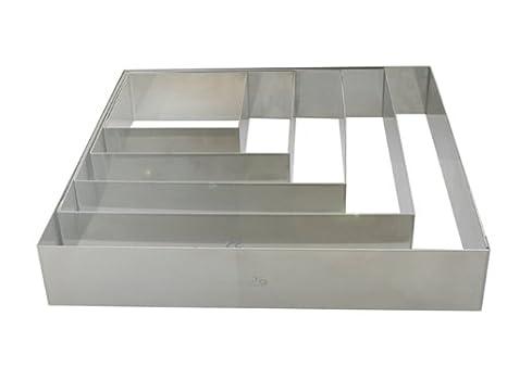 DE BUYER Kleiner Rahmen 27.9 x 20.1 x 10.9 cm Silber Edelstahl
