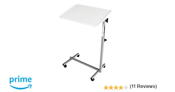 Mesa auxiliar con ruedas para cama y sofá plegable color gris: Amazon.es: Hogar