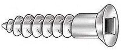 6 Flat Sq Wood Screw SST PK100 1-1//4in Pack of 3
