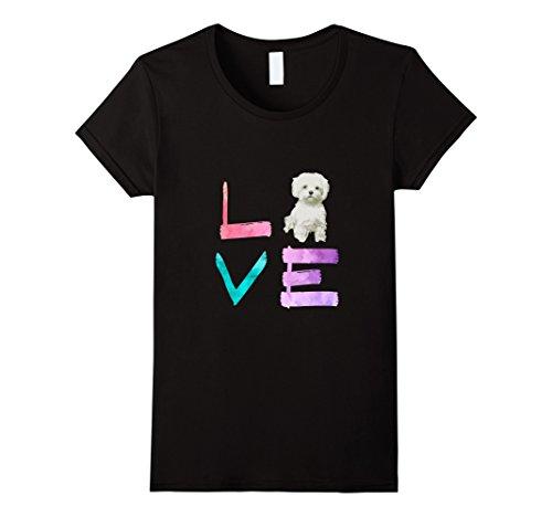 Womens I Love My Maltese Dog T Shirt Medium - Maltese Womens