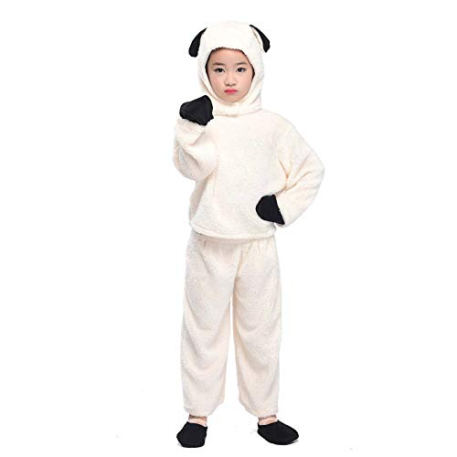 (Animal Costume Kid Elephant Squirrel Frog Sheep Cosplay Jumpsuit Halloween Fancy Dress Outfit (Sheep,)