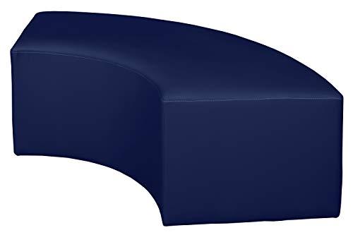 Regency N6265NB Aurora Plush Curved Ottoman Naval ()