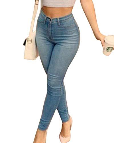 Las Lápiz Dril Mujeres Ropa Adelina Blau Fit Algodón Slim Del De Cintura Acogedor Alta Bolsillos Pantalones Vaqueros Con UCxtqtPSw