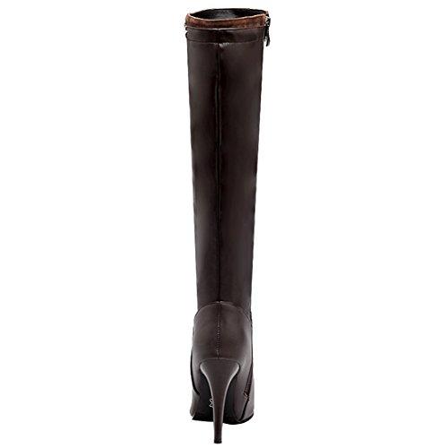 Women's Women's Women's AIYOUMEI Brown AIYOUMEI AIYOUMEI Brown Boot Classic Boot Classic P0wIB1F