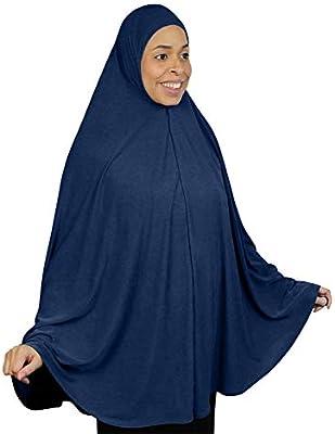 Muslim Long Khimar Hijab Scarf Women Prayer Shawl Amira Islamic Overhead Jilbab